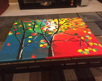 A Tree of Seasons - 16 x 20 Acrylic painting on canvas