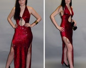 Super SEXY 1990's, Maroon and Black Floral LYCRA, Stretch Bodycon 90's Vintage DOMME Dress