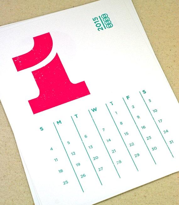 Typography Calendar Download : Eames printable desk calendar  digital instant by