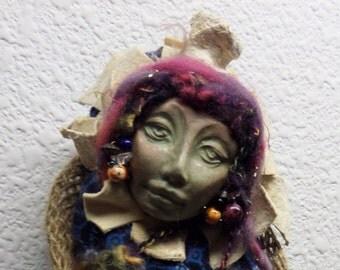 OOAK ART DOLL, Trendy Kitchen Witch Nurturing Spirit, Rustic Home Décor
