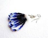 Seed Bead Earrings White Loops