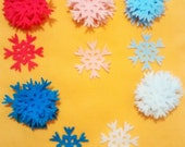 Lot of Felt Snowflakes for a Frozen Party, MANY colors to choose from Bedroom Decor, Winter, Christmas Decorations, Scrapbooking, Cardmaking