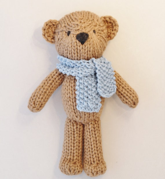 Theodore the Teddy Bear knitting pattern PDF by Yarnigans on Etsy