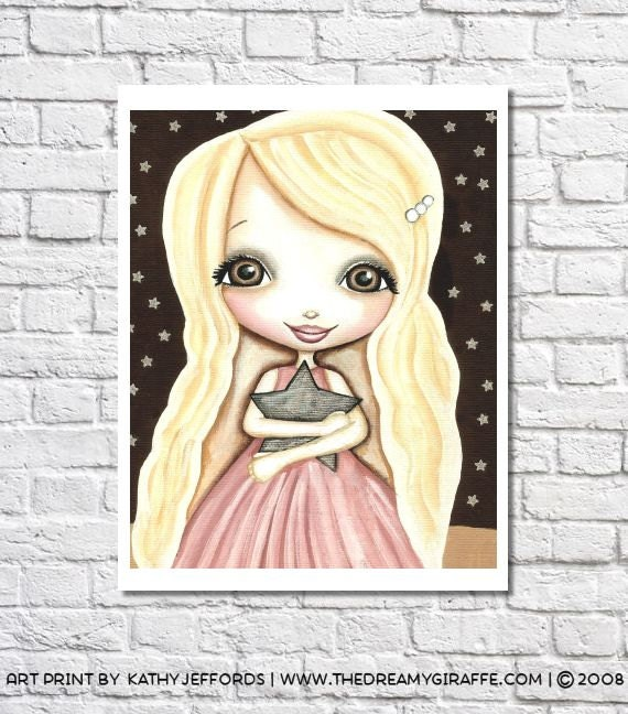 Girls Art Little Girls Bedroom Decor Girl Nursery Print Girls Wall Decor Girl Wall Art Baby Girl Nursery Idea Cute Picture Girl Room Artwork