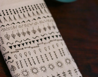 Earth cotton tea towel