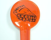 spoon rest in clementine with a pie slice on it, made to order / pick your colour