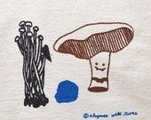 Mushroom Kitchen Towel, Portia Portobello Veggie Vampire