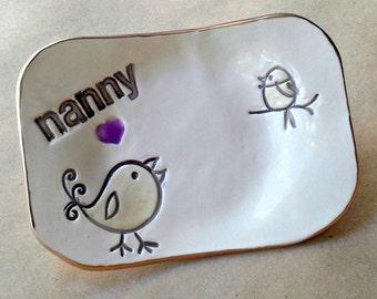 NANNY Trinket  Dish 1 Birdy  Mothers Day Gift