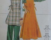 Vintage 1970s Butterick 4923 Misses Maternity Jumper, Top and Pants Sewing Pattern Size 14 B36