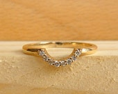 Accentable Half Circle Ring - grey diamonds