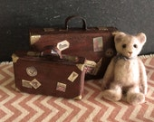 Dolls House Miniature Vintage Suitcase Set