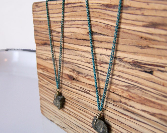 Clearance Sale: **READY TO SHIP** Minimalist Necklace. Pyrite.