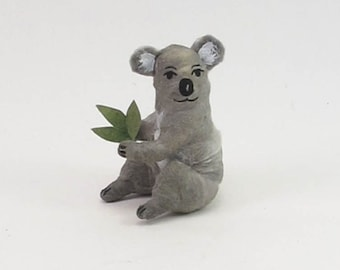 Vintage Inspired Spun Cotton Koala Ornament/Figure