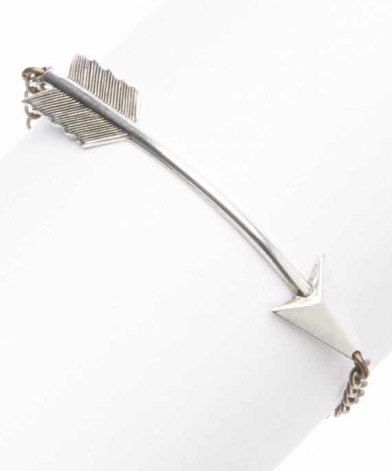 items similar to silver arrow bracelet on etsy