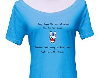 Bunny's New Shoes Scoop Neck Tshirt - Cute Rabbit Shirt