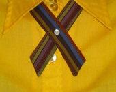 SALE Criss Cross Tie - Rainbow Stripes