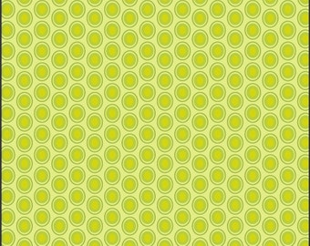 ON SALE Oval Elements Green Apple - The Oval Elements Collection - Art Gallery Fabrics - Premium Cotton Quilting Fabric - One Yard