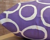 Add Personalization - DESIGNER Pet Bed Duvet Cover - Stuff with Pillows - YOU Choose Fabric - Freehand Thistle Purple/White shown