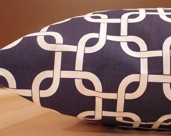 DESIGNER Pet Bed Duvet Cover - Stuff with Pillows - You Choose Fabric - Gotcha Blue White shown - Add Personalization