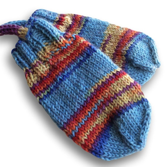 Knitting Pattern For Baby Mittens Without Thumb : Thumbless Baby Mittens on a String. Infant 3 by BarkingDogDesigns