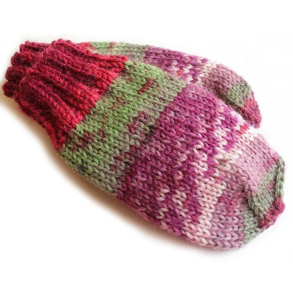 Baby Mittens. Thumbless Mittens. Hand Knit Baby Mitts Without
