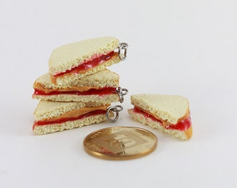 Peanut Butter and Jelly Sandwich Pendant