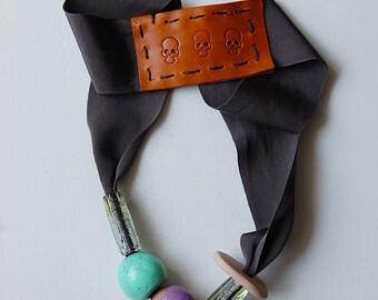 SALE _  resin necklace // asphalt series