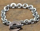 Ek Paisa Bracelet sterling silver old pice coin