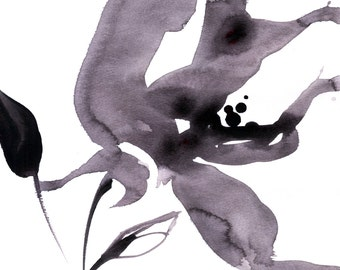 Organic Impressions No. 52 ... Floral Minimalist art archival print from original painting by Kathy Morton Stanion EBSQ
