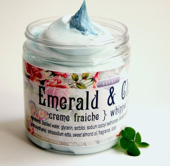 emerald clover 8 oz whipped soap creme fraiche vegan by savor. Black Bedroom Furniture Sets. Home Design Ideas