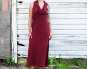ORGANIC Gypsy Simplicity Long Dress (light hemp/organic cotton knit) - organic dress