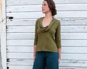 ORGANIC Gypsy Simplicity Shirt - ( light hemp and organic cotton knit ) - organic hemp shirt