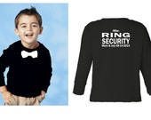 Personalized with NAME Ring security shirt Ring Bearer shirt tshirt bowtie tee wedding attire long sleeve