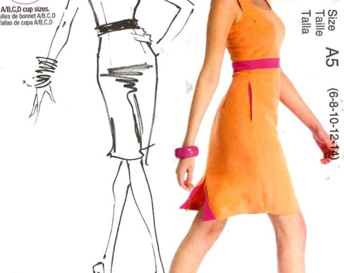 Fashion Star dress pattern cocktail wear sewing pattern McCalls 6699 Sz 6 to 14 Uncut