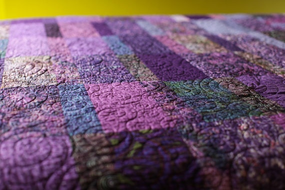 Purple Quilt Handmade Ombre Amethyst Quilted King Queen Double : purple quilt king - Adamdwight.com