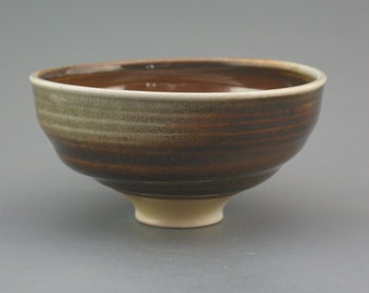 Chawan, woodfired translucent porcelain w/ tenmoku and natural ash glazes