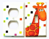 Giraffe Baby Nursery Light Fixture Set Decorative Unique Animal Light Switch Cover Outet Set for Kids Room