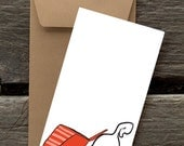 Cat in a Box -- 8 Blank flat cards and envelopes