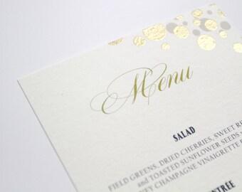 Gold Confetti Menu, Glamorous Gold, Elegant Wedding Reception, Menu Card, Reception Decor, Table Decor, Dinner Menu, Gold Wedding, Weddings