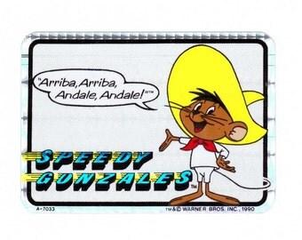 Speedy Gonzales Vending Machine Sticker 90's Prismatic  Warner Bros. Looney Tunes