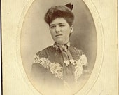 Antique Lady Photograph of a Beautiful Woman from Brooklyn Portrait PSS 2314