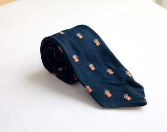 Men's Necktie / Vintage Navy Tie