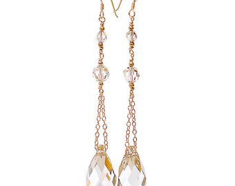 Celeste Bridal Earrings with Crystals by Catherine Nicole