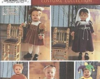 Simplicity 5517 Renaissance Costumes for Toddlers Kids Sizes 1/2-1-2-3-4 OOP Baron Baroness Jester Maiden