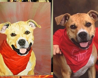 CUSTOM Acrylic Painting Pet Portrait from Your Photos