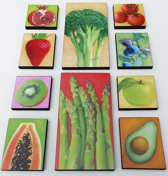 Kitchen Decor Vegetables: Garden Produce Kitchen Art And Decor Fruit And Vegetable