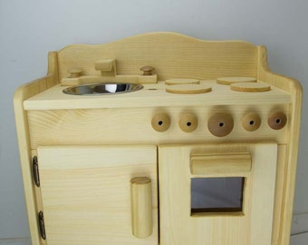 Shipping within 48 hours Dakota's Wooden toy kitchen , children's toy kitchen, pretend wooden stove