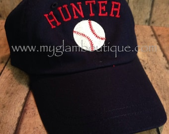 Two Toddler Custom Personalized Baseball Caps - 2 toddler sized hats