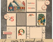 Route 25 oo3 | Vintage Christmas Paper Ephemera | Printable Collage Sheet