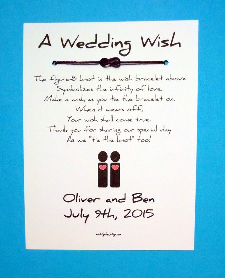 Same Sex Marriage Male Couple A Wedding Wish Unity By